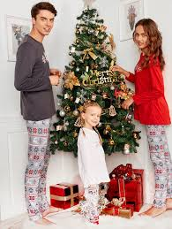 pajamas kid xl sleeve snowflake print matching family