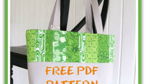 jelly roll tote bag pdf sewing pattern patternpile com sew