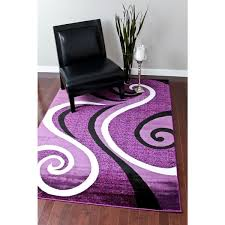 Modern Purple Rugs Rugs Modern Trendz Collection Purple Rug 5 2 X 7 2 5 2