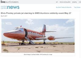 elvis plane elvis private jet being auction after sitting 30 years on runway in