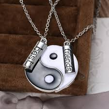 aliexpress yang bff charm pendant necklaces eight diagrams yin yang black and white