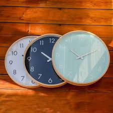 Hip Home Decor by Brand Hippih Silent Wall Clock Wood 12 Inches Brief Living Room