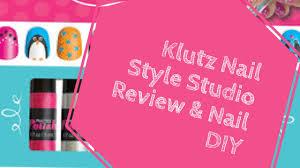 klutz nail style studio review u0026 nail art diy youtube