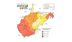 West Virginia State Parks Map by The Best Times And Places To See Fall Foliage In West Virginia In 2016