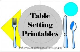 setting the table book weekly printables round up table setting printable first grade
