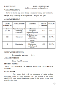 resume format for mechanical engineer student resume resume sles for final year engineering students resume