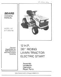 sears lawn mower 917 255741 user guide manualsonline com