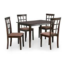 nilkamal kitchen furniture home by nilkamal trivia four seater dining table set cappucc