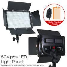 Led Photography Lights 504 Led Light Panel Kit Photography Video Studio Lighting Dimmer