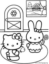 kitty coloring pages happy birthday coloring pages