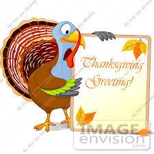 Thanksgiving Bird Royalty Free Rf Clip Illustration Of A Turkey Bird Holding A