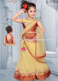 new style indian little girls anarkali suits set kids clothes