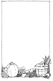 thanksgiving border clip black and white clip library
