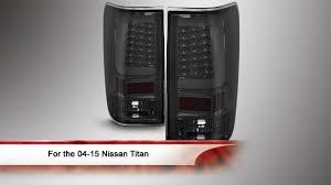 nissan titan interior lights 04 15 nissan titan light bar led tail lights youtube