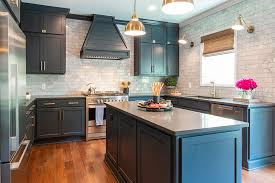 navy blue and grey kitchen cabinets envy worthy kitchens that make us want to reno our own