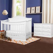 White Convertible Crib Sets by Davinci Meadow 2 Piece Nursery Set 4 In 1 Convertible Crib And