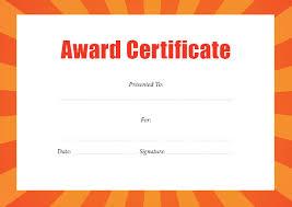 doc 673502 award certificate format u2013 word achievement award