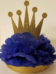 crown centerpieces royal prince gold royal crown centerpiece baby shower or