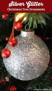 silver glitter christmas tree ornaments handmade christmas