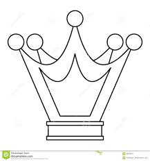 princess crown icon outline style stock vector image 88289261