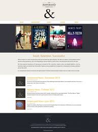 website homepage design the ampersand literary agency website work author website
