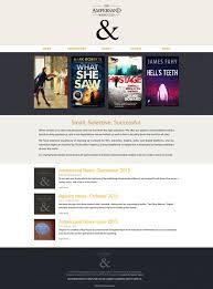 website homepage design the ampersand literary agency website work author website