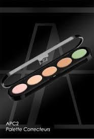 palette 5 anti cernes crème make up atelier paris