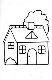 casa disegno disegni da colorare schede operative
