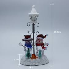 Home Interiors Figurines Holiday Home Decor Collectible Figurines Scene With Rgb Led Light