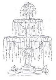 fountain sketch drawing sketch coloring page