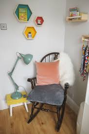 Vintage Rocking Chair For Nursery Bright And Colourful Nursery Makeover Bumpkin Betty