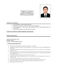 fmcg resume sample stockroom manager resume area sales manager
