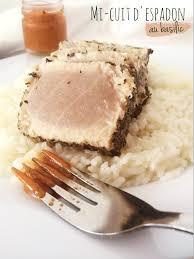 cuisiner l espadon mi cuit d espadon au basilic sauce sashimi personnalisée riz