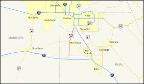 Arizona Map Of Cities by Arizona State Route 347 Wikipedia