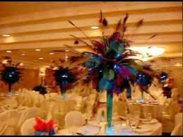 Peacock Feather Centerpieces by Peacock Themed Centerpiece Rentals By Sweet 16 Candelabras Youtube