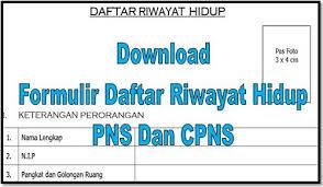 form daftar riwayat hidup pdf download formulir daftar riwayat hidup pns dan cpns file sekolah