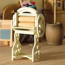 Dolls House Kitchen Furniture The Dolls House Emporium Cream 19th Century Wringer Mangle