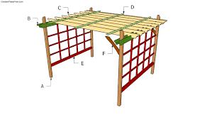 How To Build A Pergola by Garden U0026 Outdoor Khaki Pergola Plans With White Ceiling Ideas
