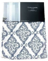 tahari navy blue damask medallions 2pc window curtain panels pair