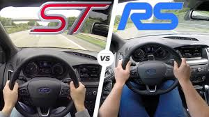 difference between ford focus models ford focus rs vs focus st acceleration top speed autobahn