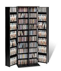 amazon com black grande locking media storage cabinet with shaker