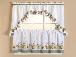 curtains set sheer sunflower kitchen curtains sunflower kitchen