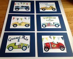 Kids Race Track Rug by Vintage Race Car Nursery Kids Race Car Boys Artwork Race Car