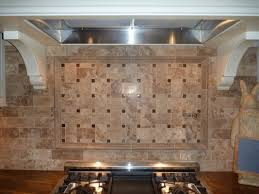 kitchen design and decorting using light brown stone basketweave
