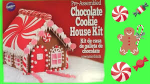 gingerbread house decorating chocolate cookie house kit from