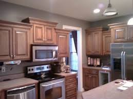 gray kitchen walls with oak cabinets kitchen trend colors tile material white antique off shaped small