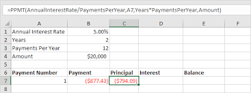 how to calculate monthly loan payments loan amortization schedule in excel easy excel tutorial