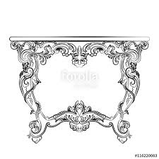 royal baroque vector classic table furniture with ornate luxury