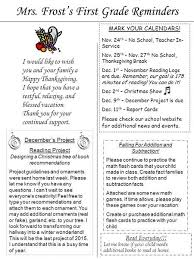 grade newsletter november 2nd 7th 2015 mrs mccarthy and