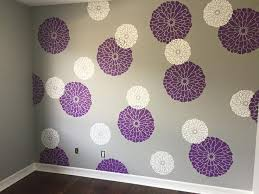 Best Wall ArtPaintingStencils Images On Pinterest Wall - Flower designs for bedroom walls